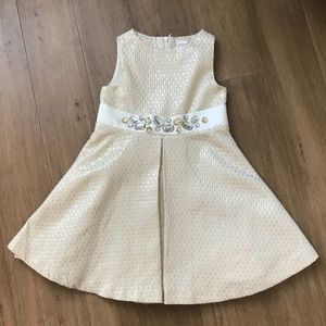 Gymboree Holiday dress ✨💎 gold silver sparkle